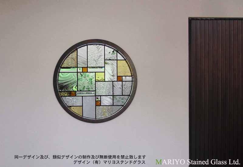 和風丸窓のステンドグラス