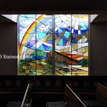 教会のステンドグラスデザイン 希望が丘教会