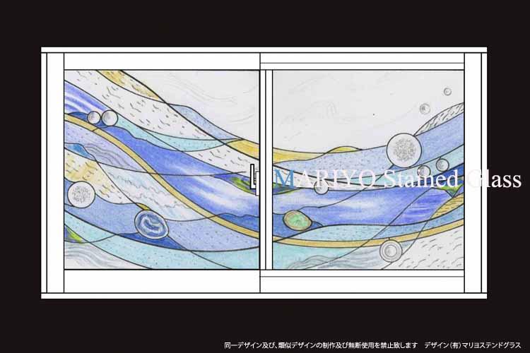 ステンドグラスデザインDW40-2J4E2F