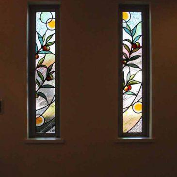 ステンドグラス オリーブの木
