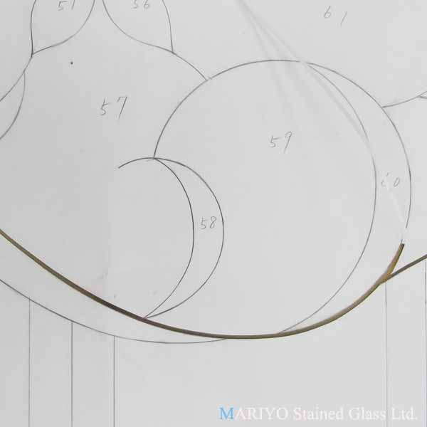 ステンドグラス 作り方 型紙切り2