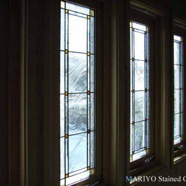 ステンドグラスの取付 連窓 北海道 スウェーデンハウス