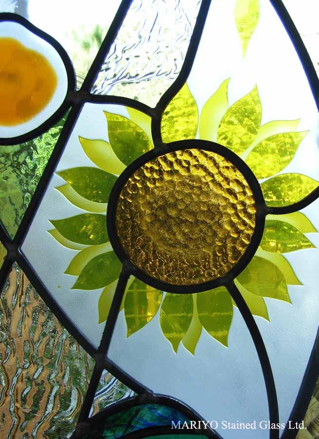 ステンドグラス向日葵の花