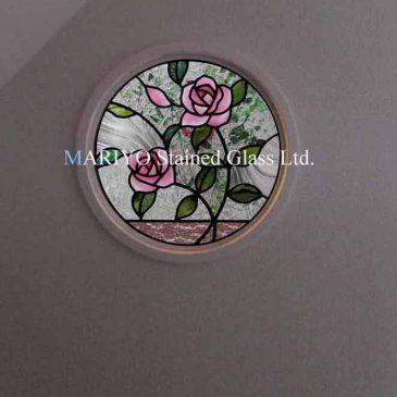 薔薇の丸窓 円形間仕切り壁 キセ硝子とは?