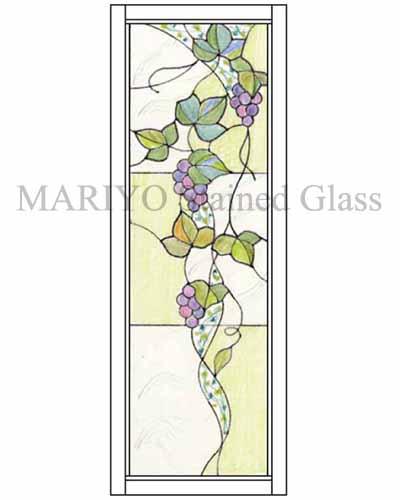 ステンドグラス デザイン葡萄