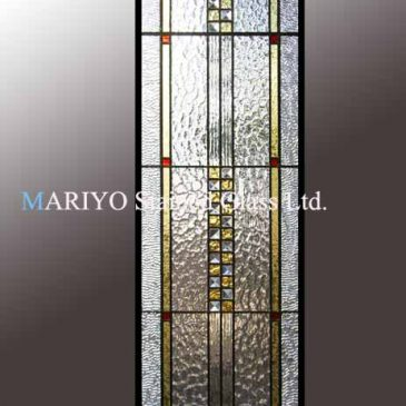 ステンドグラス フランクロイドライトデザイン  縦 2.7メートル