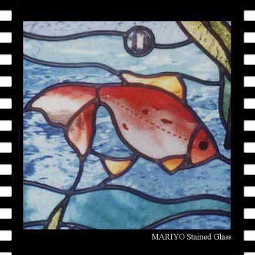 金魚のステンドグラス 「金ちゃん」金魚
