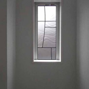 ステンドグラス トイレの窓施工例