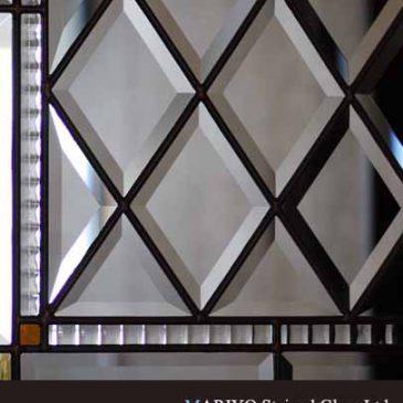 無色のステンドグラス ドア  室内ドア マリヨステンド