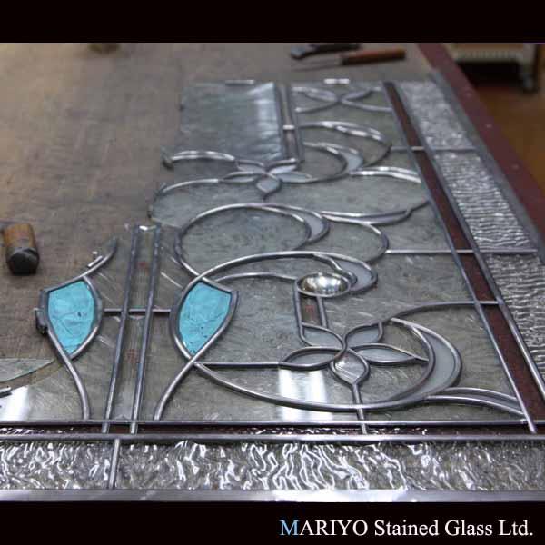 ステンドグラス 作り方 鉛線組