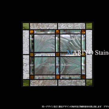 和室のステンドグラス 四角   通販
