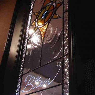 ガウディー風のステンドグラス