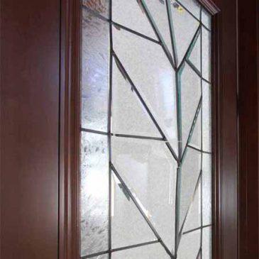 ステンドグラス修理 ドアのガラスが割れてしまった