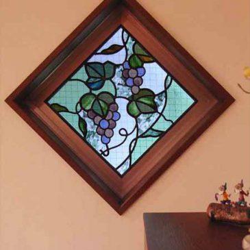 ステンドグラス ぶどう 絵画のようなステンドグラス