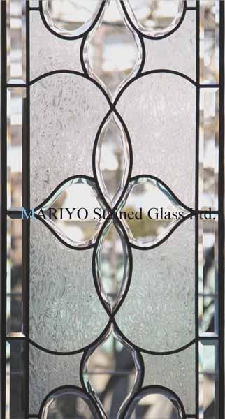 曲線の面取りガラスを使ったステンドグラス