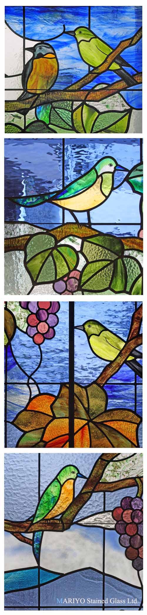 ステンドグラス鶴見鳥3