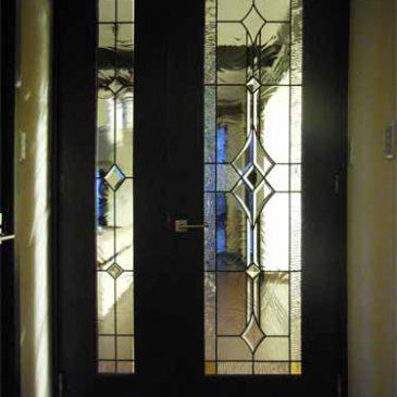 ステンドグラス ドア 親子ドア