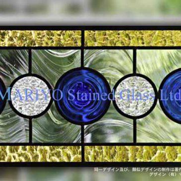 丸いガラス ロンデル ステンドグラス カントリー風
