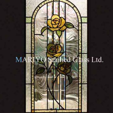 ステンドグラスバラの花 黄色いバラのステンドグラスは金運に良い