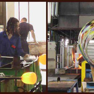 アンティークガラス フランス サンゴバン社 硝子工場