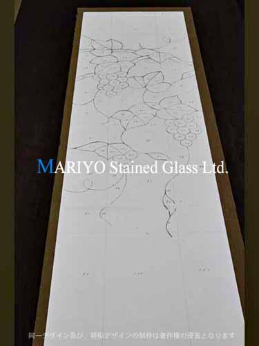 ステンドグラス 型紙 ブドウ