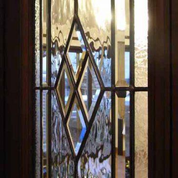 ステンドグラス ドア用 ダイヤ型 マリヨステンド