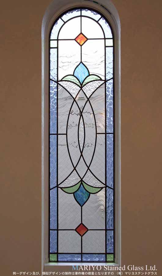 Low-E 複層ガラスにステンドグラス2