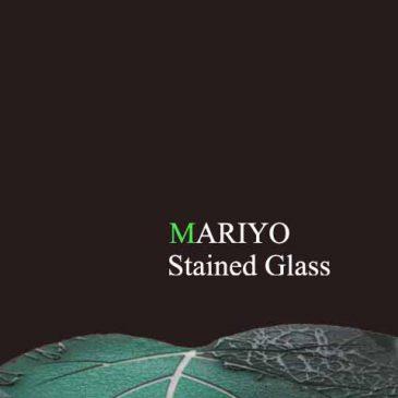 ステンドグラス  音の葉 ガレ風彫刻 小さな一枚から始まる
