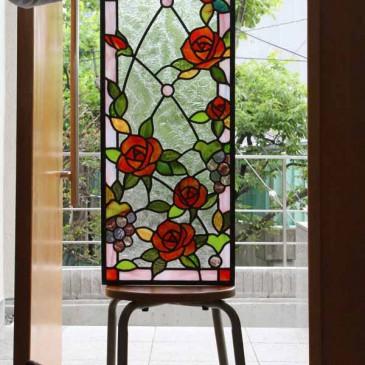 バラのステンドグラス 再注文 バラの花 コレクション マリヨステンド