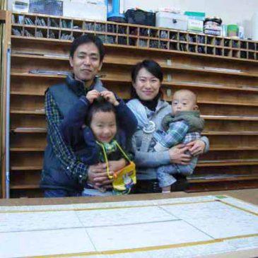 ステンドグラス工房 見学 お父さん お母さんと 子供