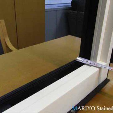 樹脂サッシ施工例 | ステンドグラス作家ブログ
