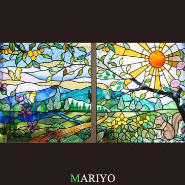 根っこは同じ場所 風景のステンドグラス