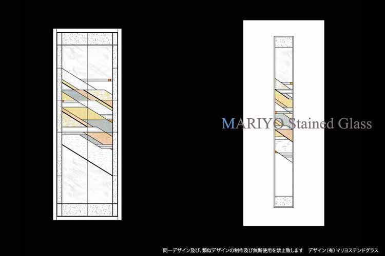 ステンドグラスデザイン画-滋賀県