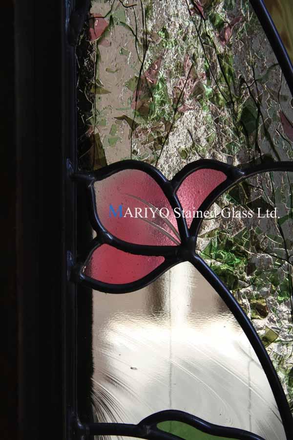 ピンクの花のステンドグラス2013