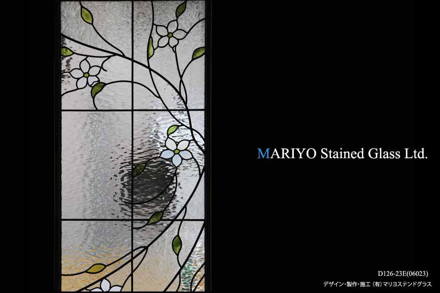 玄関FIX花のステンドグラス部分画像