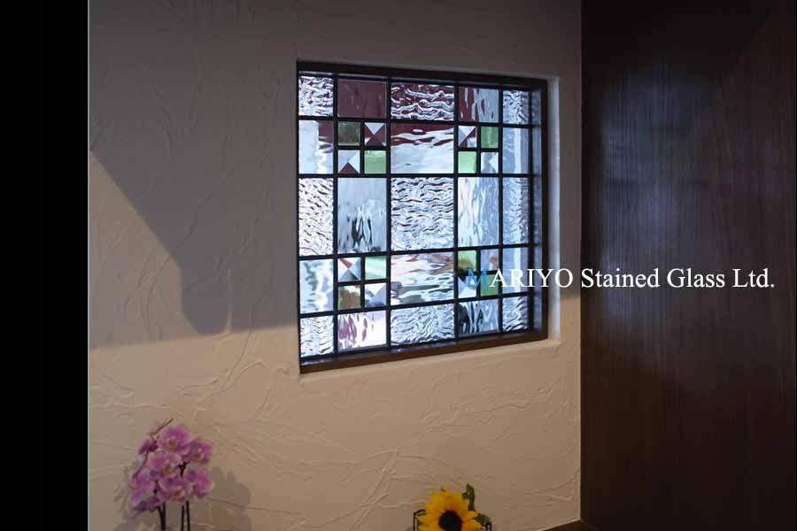 キッチンのステンドグラス壁埋め込みA37-8P(0404)