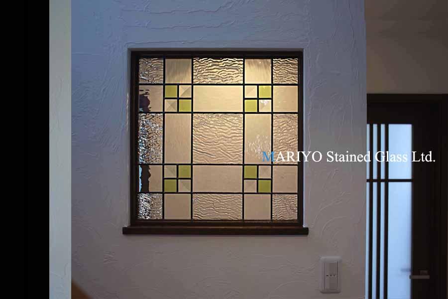 壁埋め込みステンドグラス階段四角 A37-8P(0606)