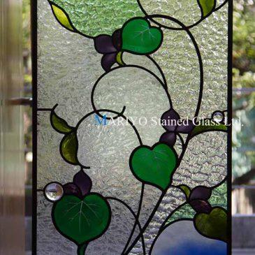 ステンドグラスパネル花