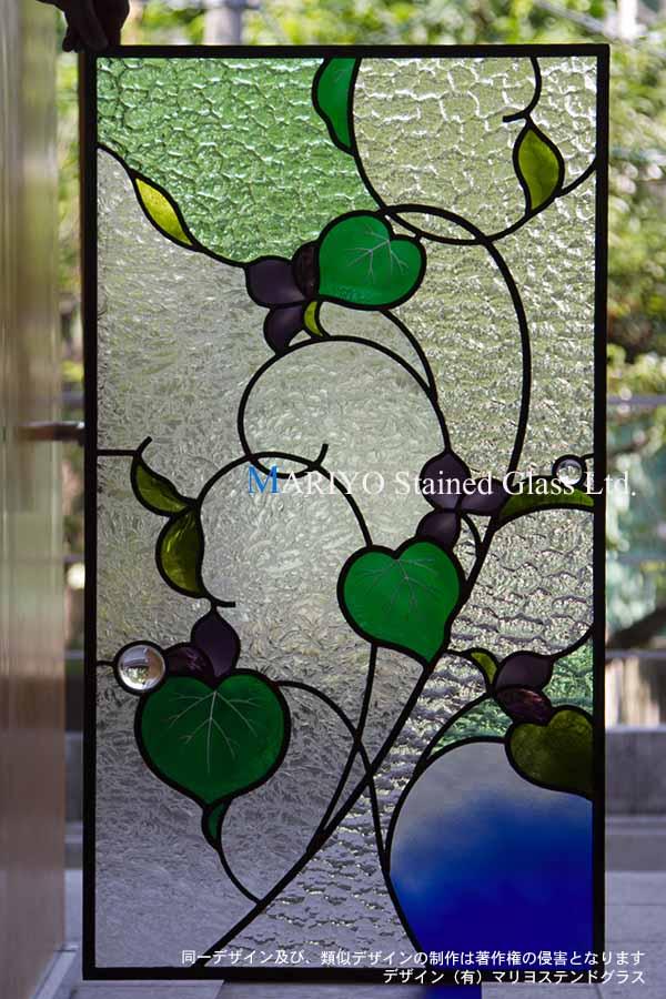 スミレの花のステンドグラス DW55-2J11E