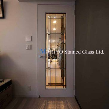 シンプル ステンドグラス ドア(片開き)