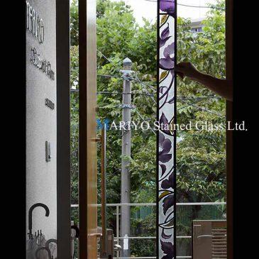 被せガラス ガレ風デザイン