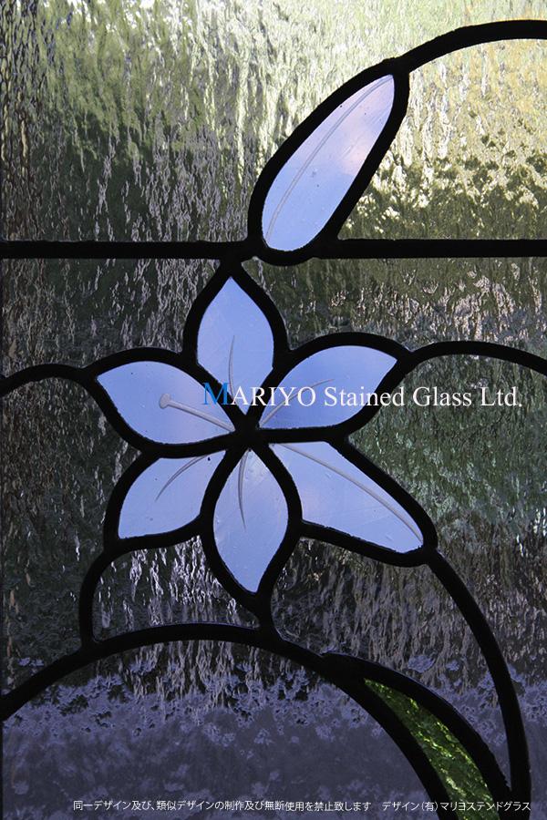 ユリの花ステンドグラス画像