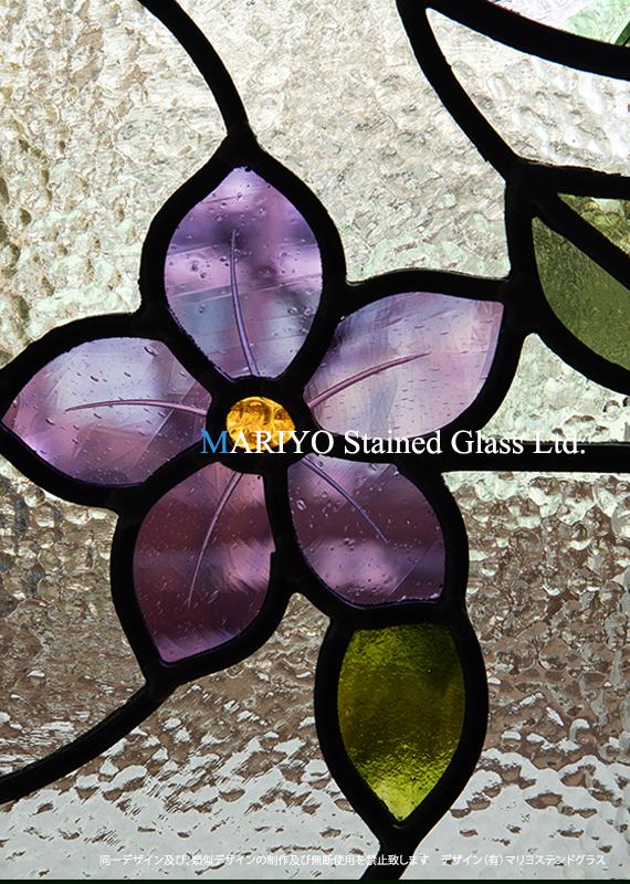 紫のクレマチスD55-11E Up