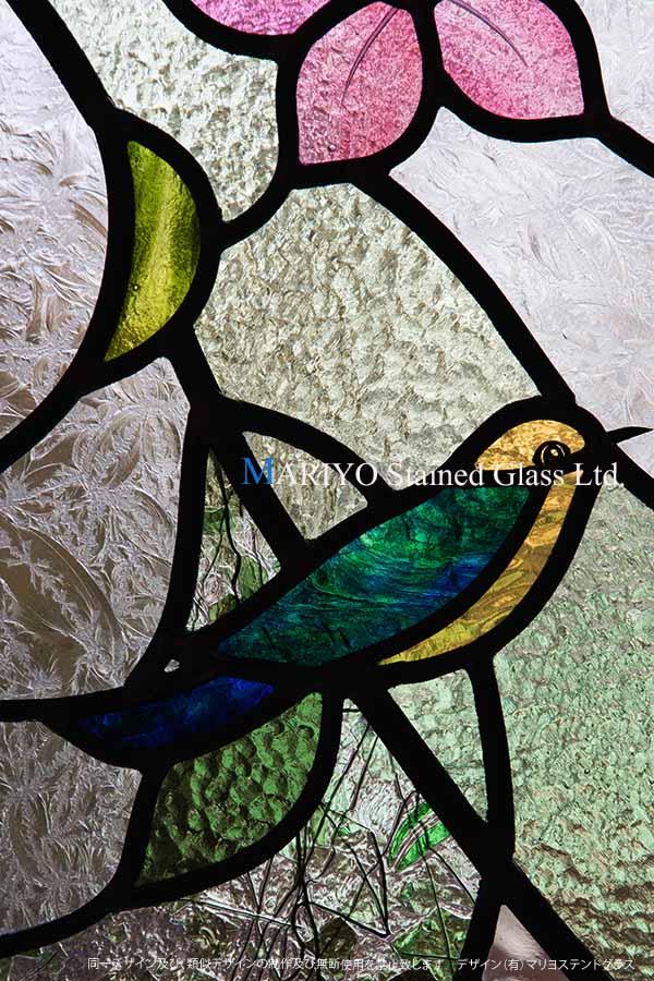 ステンドグラス 鳥 D81-14E