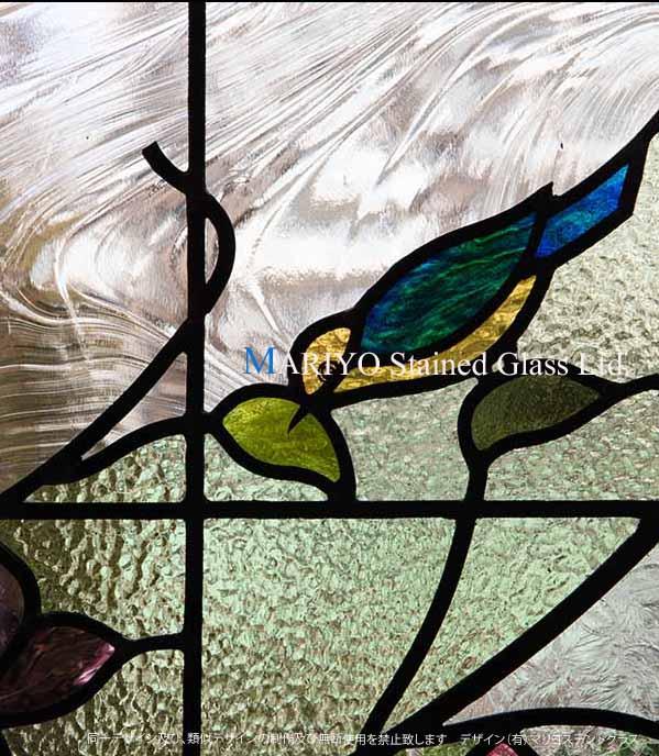 ステンドグラス 鳥 D81-14E-2