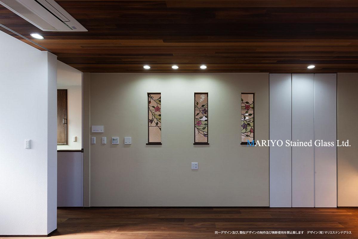 福島のステンドグラス クレマチ3連