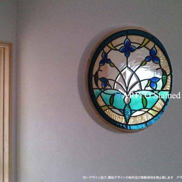 富山県の丸窓ステンドグラス