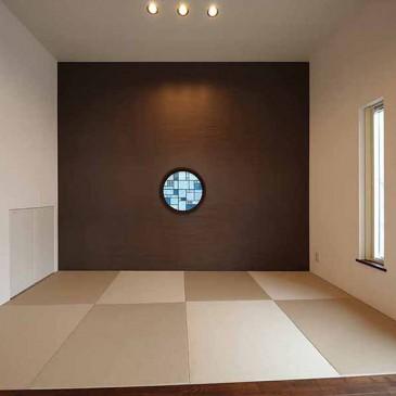 和室の丸窓ステンドグラス 600パイ