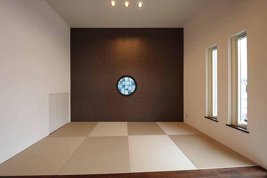 ステンドグラス 和室丸窓画 600パイ