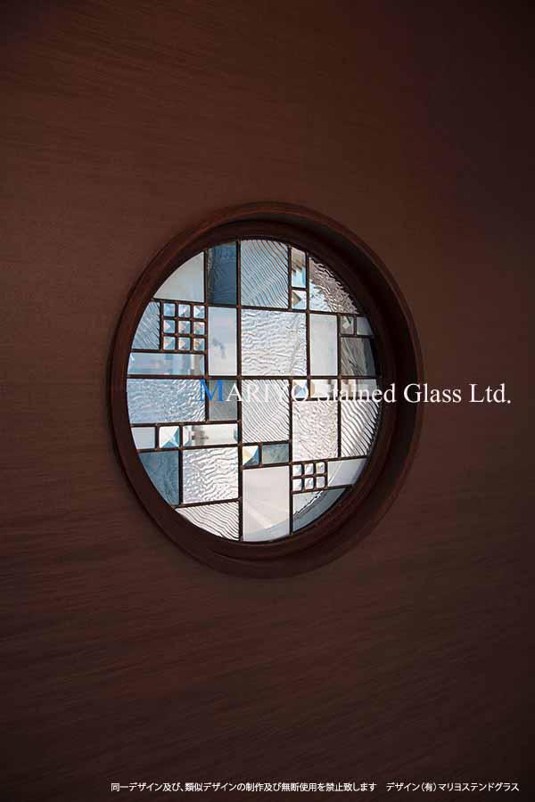 ステンドグラス 和室丸窓 600